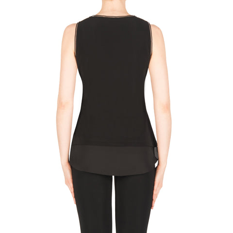 Image of Joseph Ribkoff Top Style 183126 Black Best Price On Sale