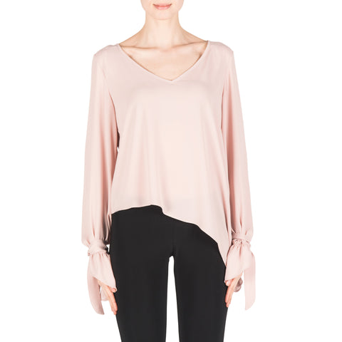 Image of Joseph Ribkoff Top Style 183291 Winter Blush Powder Pink Best Price On Sale
