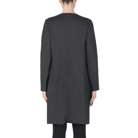 Image of Joseph Ribkoff Coat Style 183333 Charcoal Best Price On Sale