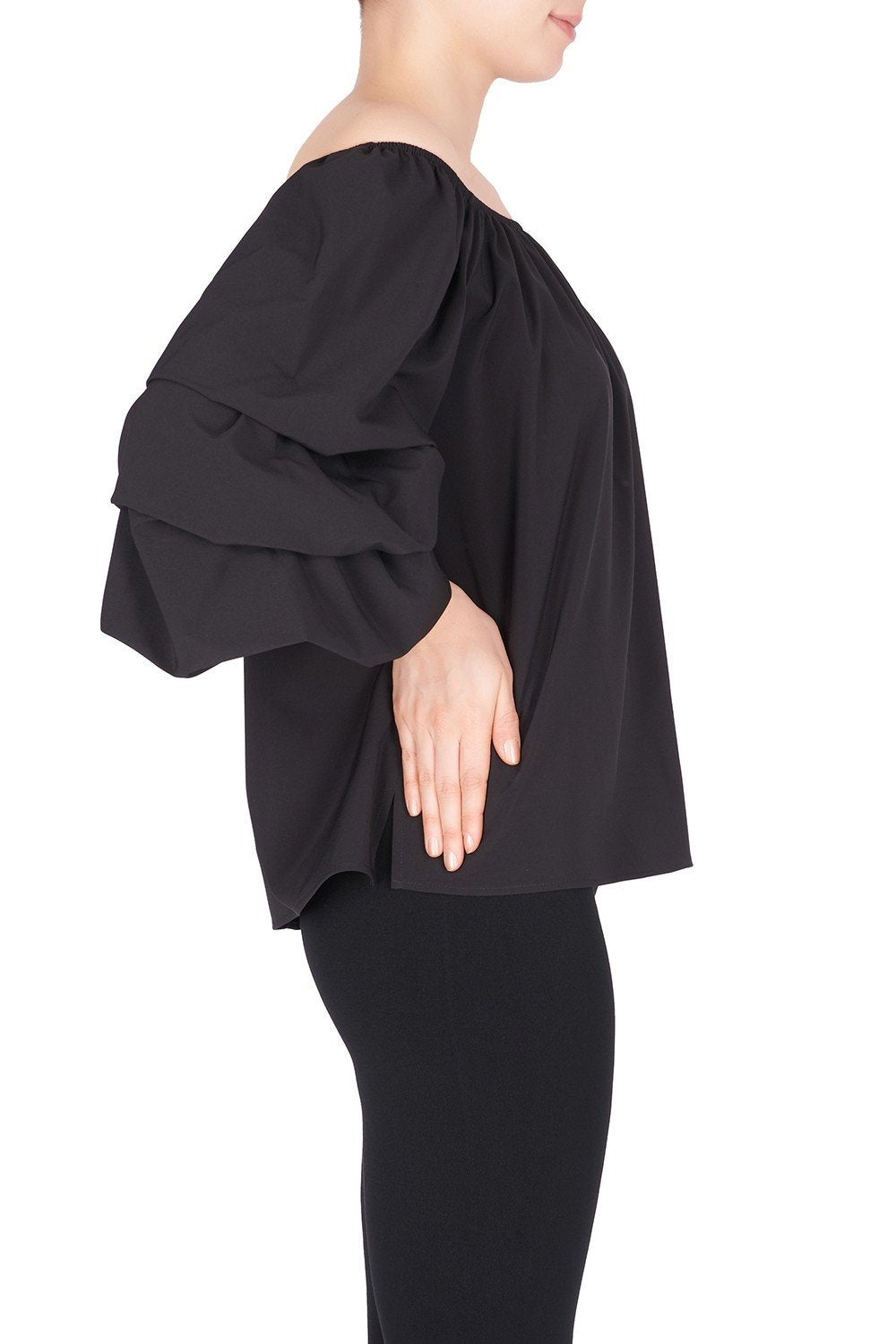 Image of Joseph Ribkoff Top Style 183423 Black Best Price On Sale