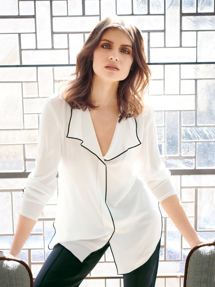Image of Joseph Ribkoff Blouse Style 183123 Off White Best Price On Sale