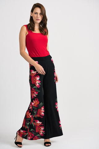 Image of Joseph Ribkoff Black/Multi Pant 201358