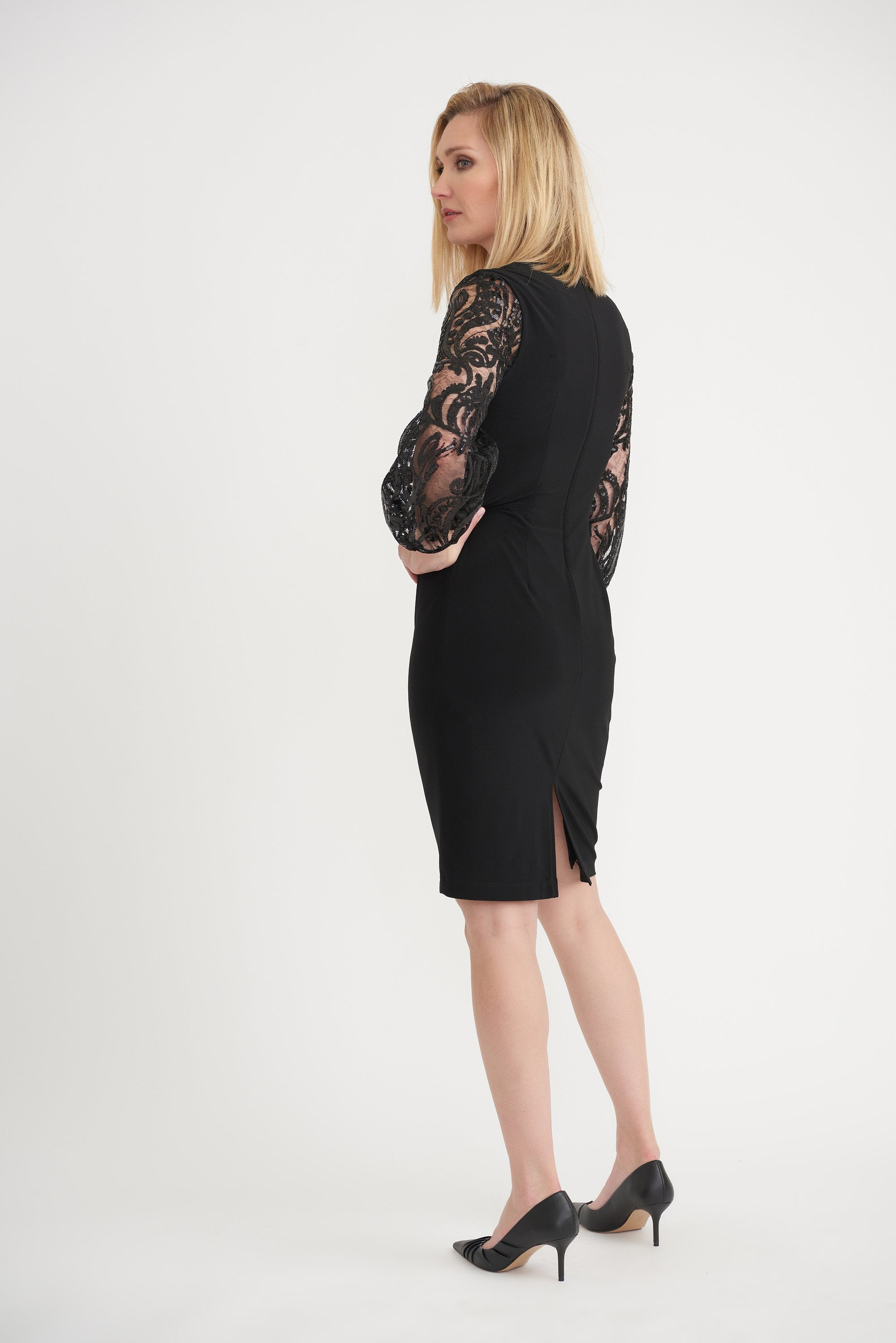 Image of Joseph Ribkoff Ladies Dress Black Style 203437