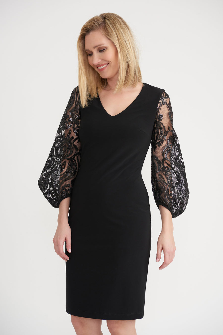 Joseph Ribkoff Ladies Dress Black Style 203437