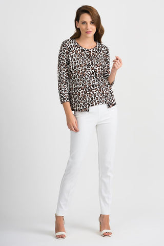 Image of Joseph Ribkoff Sweater Leopard 201912