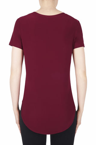 Image of Joseph Ribkoff Top Style 183220 Cranberry