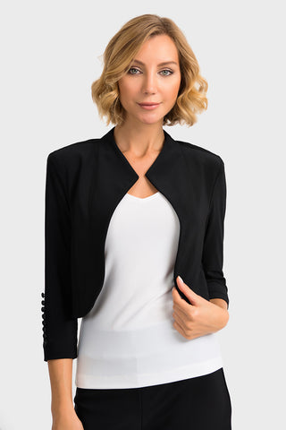 Image of Joseph Ribkoff Black Cover Up/Bolero Style 32083