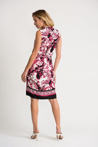 Image of Joseph Ribkoff Vanilla/Multi Dress 202377