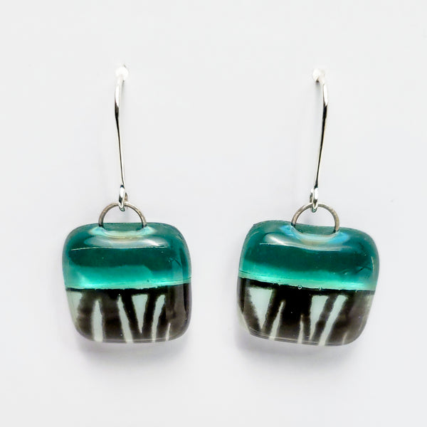 Glass Earrings, Sage