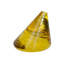 Glass Cone Paperweight