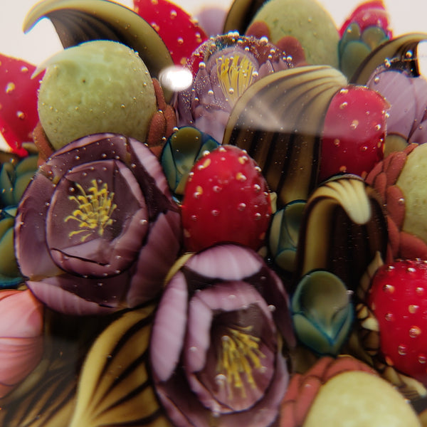 Strawberry and Acorn Paperweight
