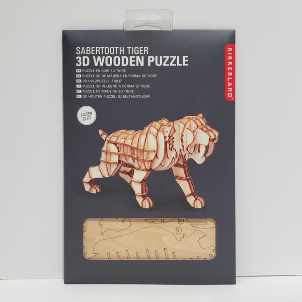 Sabertooth Tiger 3D Wooden Puzzle