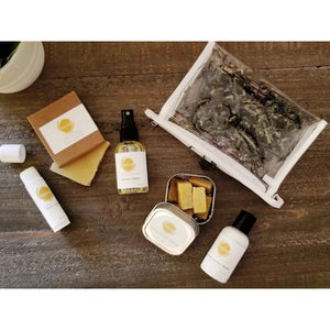 moxxie on the go travel set, gift set, sample set.  lavender, citrus blend, eucalyptus, peppermint