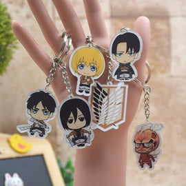 Attack on Titan Kyun Chara Illustrations Rubber Keychanains