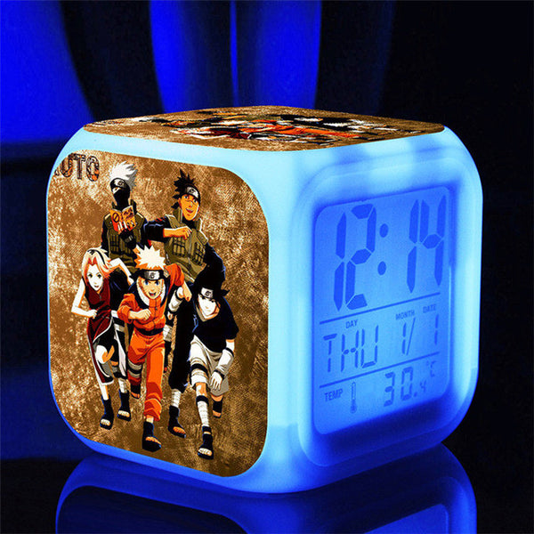 Naruto Alarm Clock with Built-In Thermometer