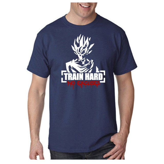 Goku Train Hard - No Excuses Tee