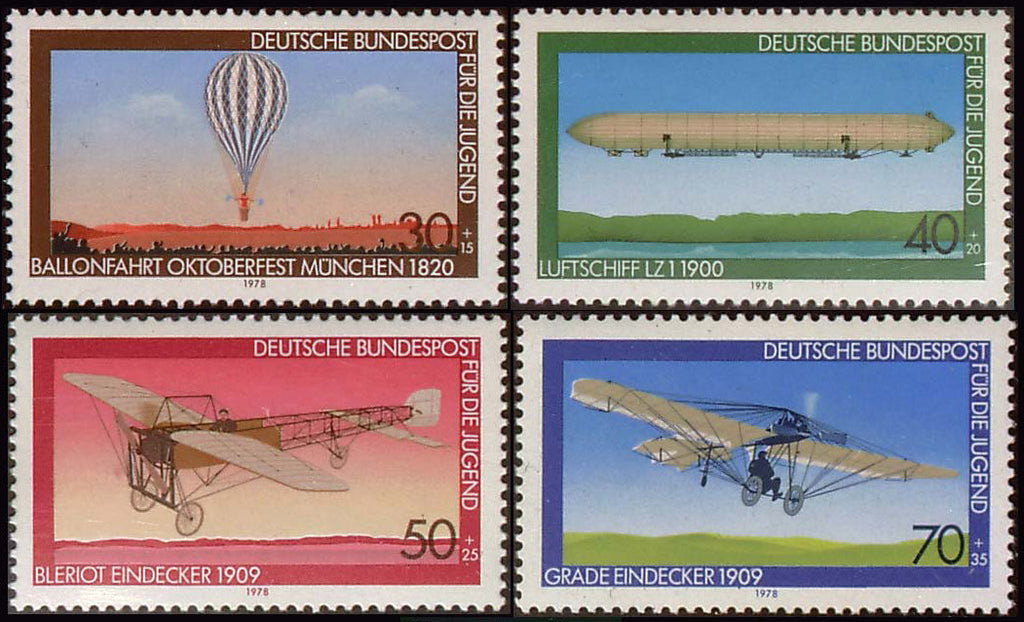Germany Aviation postage stamps