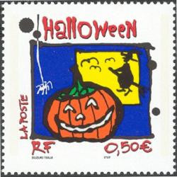 French Halloween postage stamp