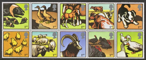 Farm Animals postage stamps