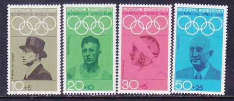 Germany Olympics 1968, Set of Four Stamps