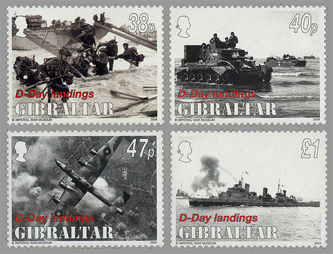 Gibraltar D-Day stamps