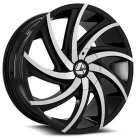 Azara ® AZA-503 Wheels Rims 30x9.5 Blanks (Custom Drilled BP) Black Machine 15mm | AZA-5033095BLANK+15BM