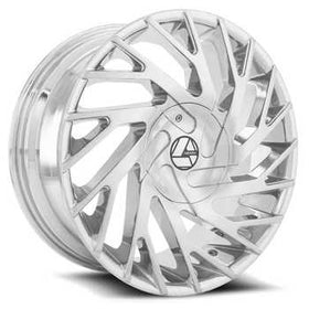 Azara ® AZA-505 Wheels Rims 30x9.5 Blanks (Custom Drilled BP) Chrome 15mm | AZA-5053095BLANK+15C