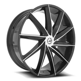 Azara ® AZA-506 Wheels Rims 30x9.5 Blanks (Custom Drilled BP) Black Machine 15mm | AZA-5063095BLANK+15BM