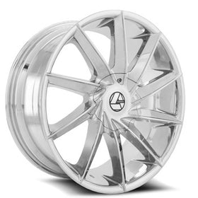 Azara ® AZA-506 Wheels Rims 30x9.5 6x135 6x5.5 (6x139.7) Chrome 25mm | AZA-506309561351397+25C