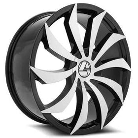 Azara ® AZA-507 Wheels Rims 30x9.5 5x115 5x120 Black Machine 15mm | AZA-50730955115120+15BM