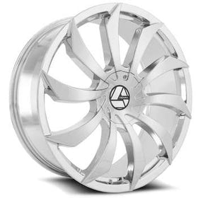 Azara ® AZA-507 Wheels Rims 30x9.5 6x135 6x5.5 (6x139.7) Chrome 25mm | AZA-507309561351397+25C