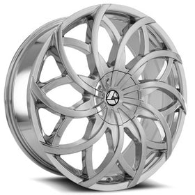 Azara ® AZA-504 Wheels Rims 30x9.5 6x135 6x5.5 (6x139.7) Chrome 25mm | AZA-504309561351397+25C