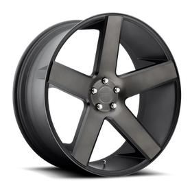 DUB Baller 30x10 Wheels Black Machined 5x5.5 (5x139.7) 25 | S116300085+25