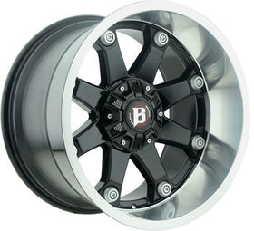 Ballistic ® Beast 581 Wheels Rims Gloss Black Machined 22X12 5x5.5 (5x139.7) 5x150 -44 | 581222069-44GBLM