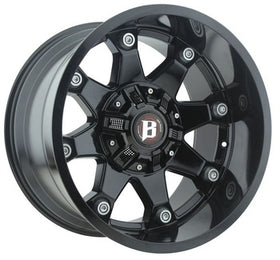Ballistic ® Beast 581 Wheels Rims Gloss Black Machined 22X12 5x5.5 (5x139.7) 5x150 -44 | 581222069-44GB