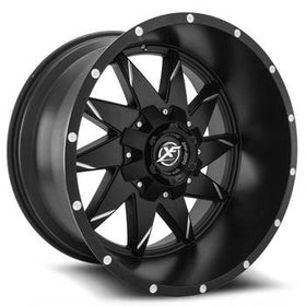 XF Offroad ® XF-208 Wheels Rims 22x12 6x135 6x5.5 (6x139.7) Black Milled -44mm | XF-208221261351397-44BM