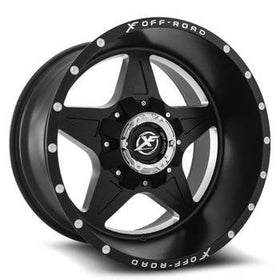 XF Offroad ® XF-210 Wheels Rims 22x10 5x127 (5x5) 5x135 Matte Black -24mm | XF-21022105127135-24MBM