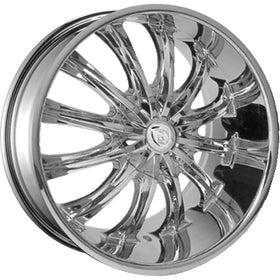28x10 Chrome Wheel Borghini B15 5x120 13