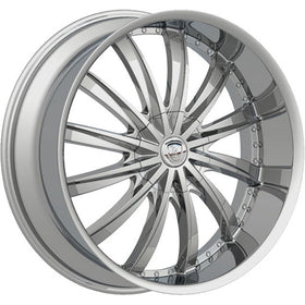 28x10 Chrome Wheel Borghini B19 5x115 5x120 13