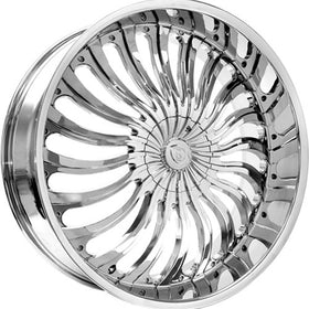 26x9.5 Chrome Wheel Borghini B24 5x115 5x120 13