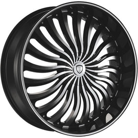 26x9.5 Black Wheel Borghini B24-M 5x5 5x5.5 13