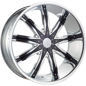 30x10 Chrome Wheel Borghini B9 5x5 5x5.5 13