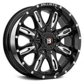 Ballistic Scythe 953 Wheels 5x5.5 5X150 18X9 12mm Black | 953890069+12GBX