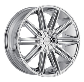 Cavallo ® CLV-10 Wheels Rims 30x9.5 Blanks (Custom Drilled BP) Chrome 15mm | CLV-103095BLANK+15C