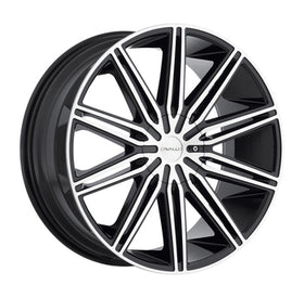 Cavallo ® CLV-10 Wheels Rims 30x9.5 Blanks (Custom Drilled BP) Black Machine 15mm | CLV103095BLANK+15BM
