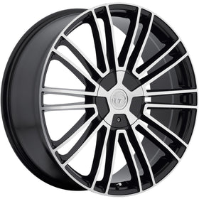 18x8 Machined Black VCT Morello Rim 5x108 & 5x114.3 +40 Wheel