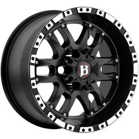 Ballistic Wizard 810 Wheels 6x5.5 16X8 0mm Black | 810680655+00FBOM
