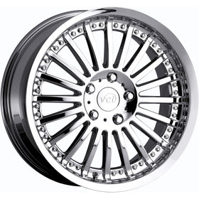 18x8 Chrome VCT Spazio Wheel 5x100 +38 Offset V46-1885100+38