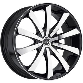22x9.5 Machined Black Wheel VCT V48 5x115 5x120 15