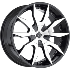 22x9.5 Machined Black Wheel VCT V54 5x115 5x120 15